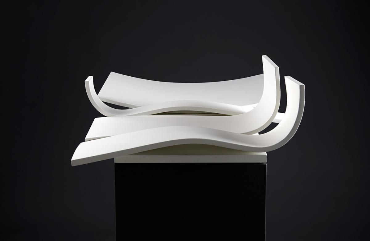 'Weisse Schale' - Objekt von Christof Lungwitz