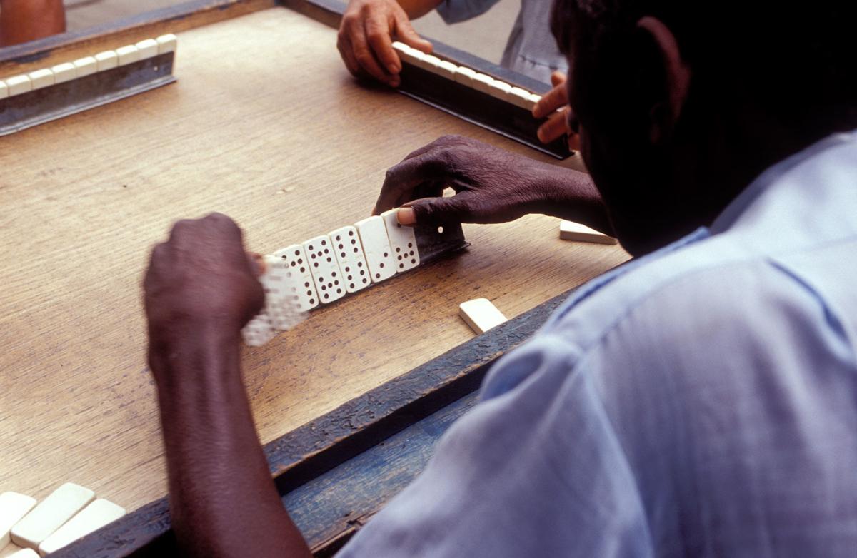 Kuba - Dominospieler