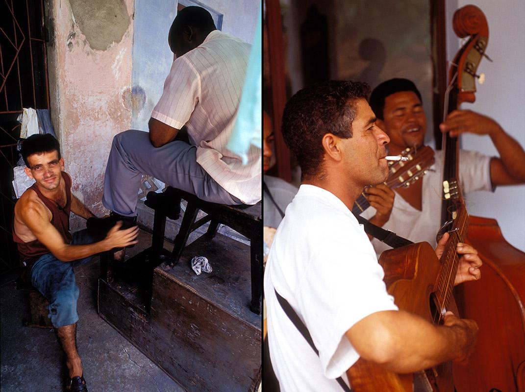 Kuba - Schuhputzer und Musiker in Pinar del Rio
