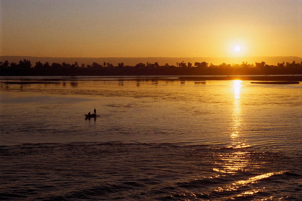 Sonnenuntergang auf dem Nil