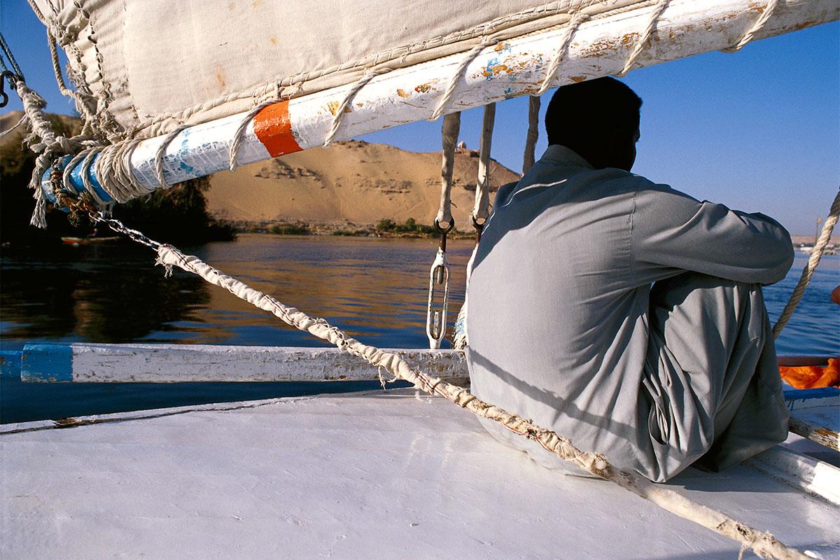 Auf dem Nil vor Kitchener's Island