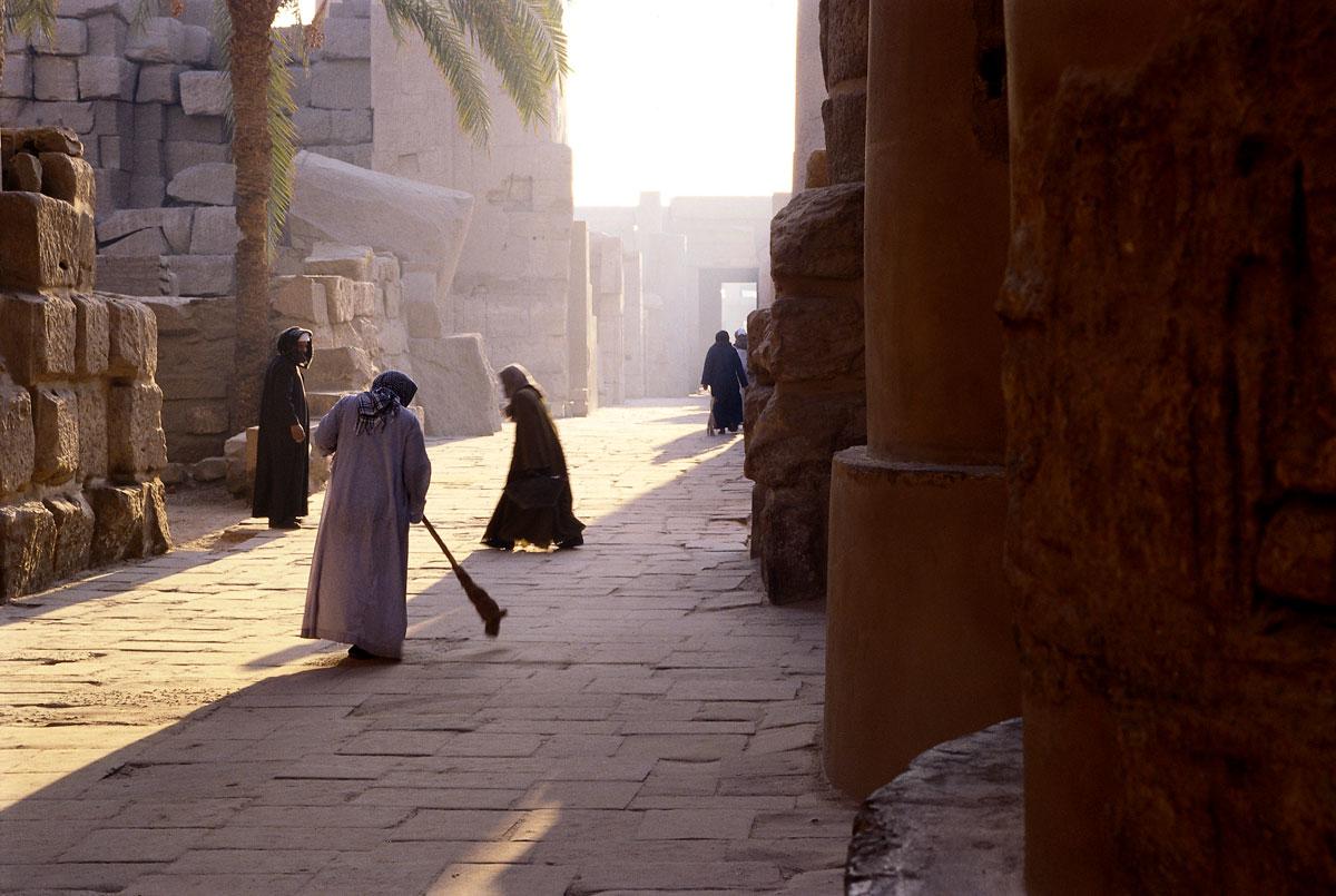 Sonnenaufgang im Karnak-Tempel