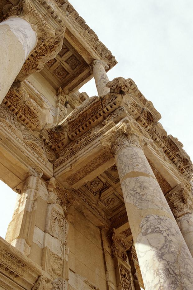 Ephesos - Celsus-Bibliothek Detail