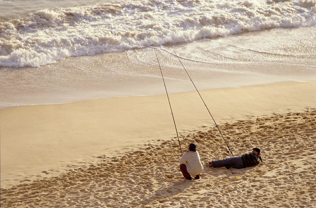 Angler an der Algarve - Portugal